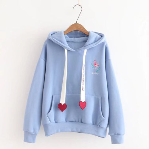 Women Thick Padded Loose Hoodies