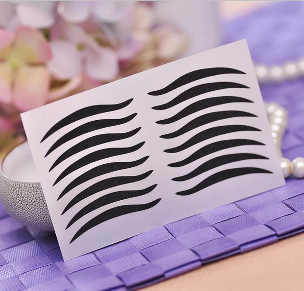 48pcs Sexy Cat Style Black Eyeliner Stickers