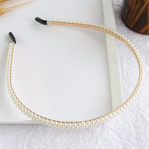 3Pcs Faux Pearl Hair Hoop Set