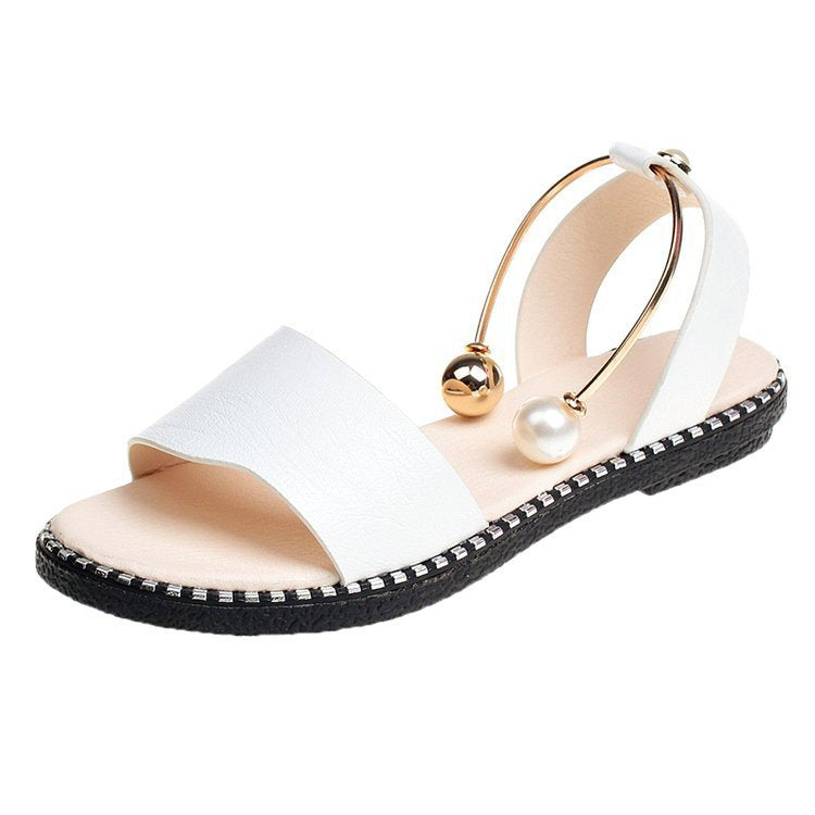 Metal Cuff Decor Sandals