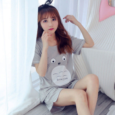 Cotton Cartoon Print Pajama Set