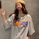 Casual Printed Oversized Womens Tee