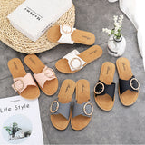 Eyelet Buckle Decor Slides