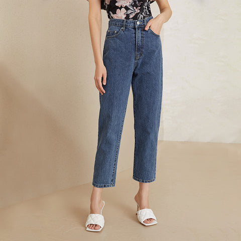 High Waist Daddy Denim Pants