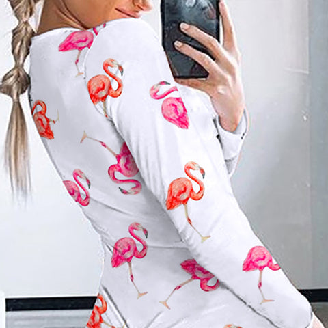 Hot Print Cotton Shorts Jumpsuit