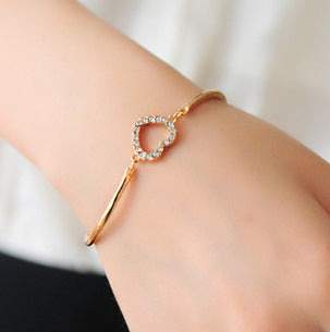 Womens Heart Shape Diamond Bracelet