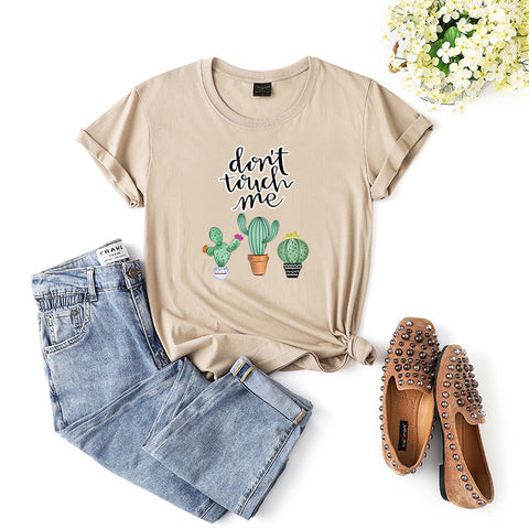 Fashionable print for cactus tee