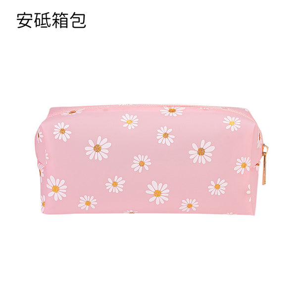 1pc Flower Print Makeup Bag