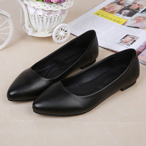 Round Toe Slip On Ballet Flats