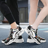 Shoes Print Lace-up Front Sneakers