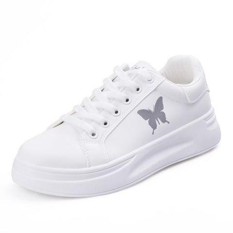 Butterfly Print Lace-up Front Skate Shoes