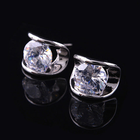 Zircon Ear Stud Elegant An allergic Earring for Women