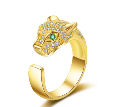 Luxury Unique Leopard Head Ring