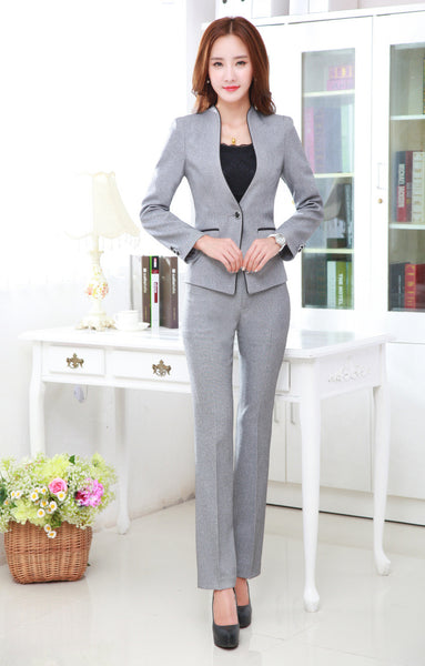 Women's Long-sleeved Two-piece Suit