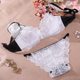 Summer Ultra-thin Padless Lace Bra Set