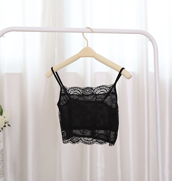 Sexy Summer Silk Lace Straps Tube Top