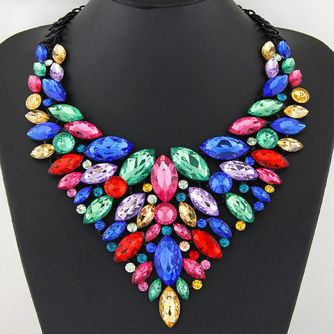 Women's Sapphire Crystal Statement Necklace