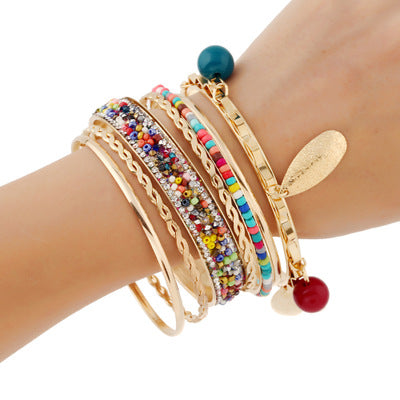 Diamond Leaf Alloy Bracelets