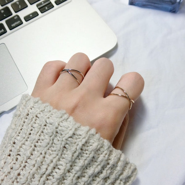 Minimalist Style Small Jewelry Alloy Cross Ring