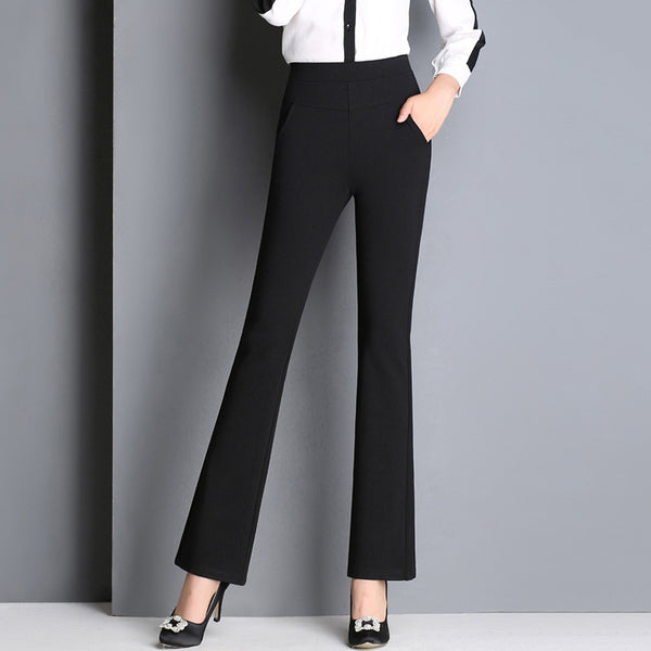 Micro Bell Elastic Women's Casual Trousers