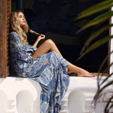 Women's Long Sleeve Bohemian Maxi Dress