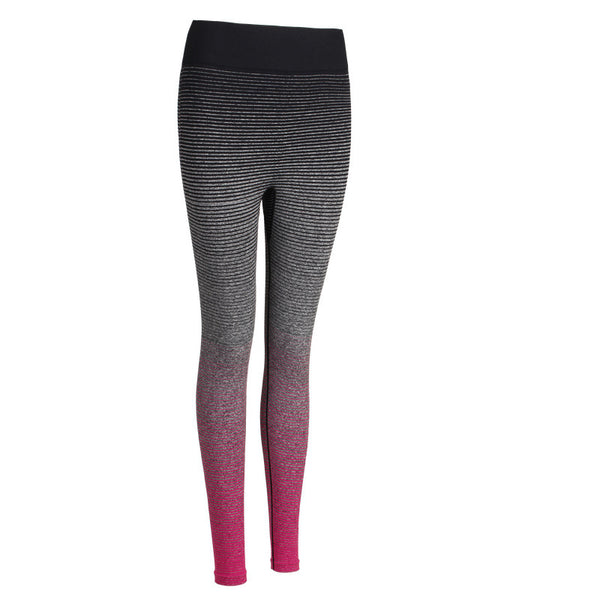 Beautiful Gradient Color High Elastic Quick-drying Running Fitness Pants