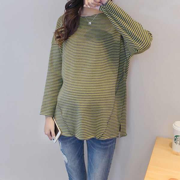 Maternity Loose  Striped T-shirt