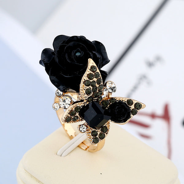 National Wind Butterfly Retro Bohemian Alloy Rose Ring