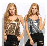 Women's Sexy Gold and Silver Small Suspenders