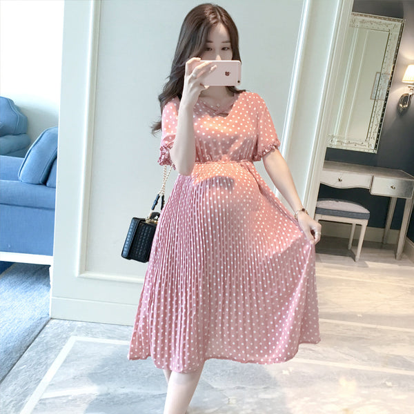 Summer Polka Dot Pregnant Women Dress