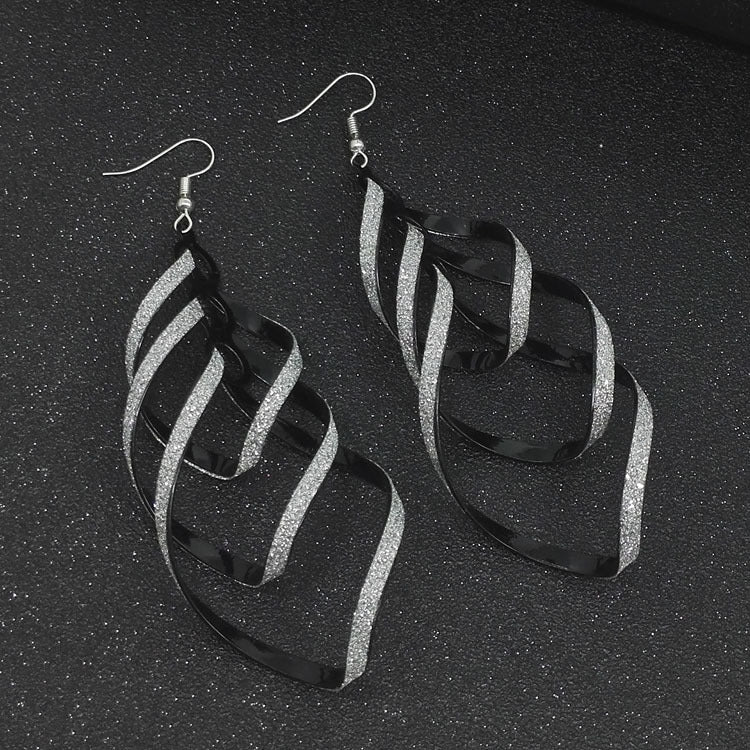Women's Hollow Out Twisted Elegant Italian Earrings