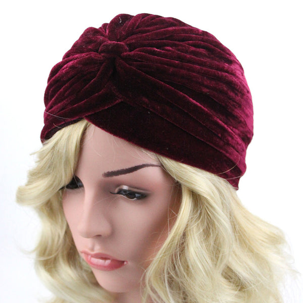 Plush Folds Hooded Hat for Women
