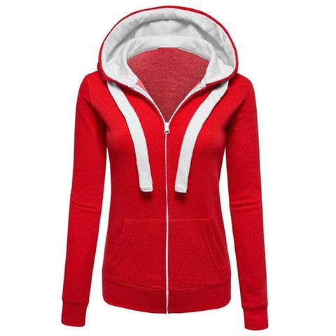 Womens Charmdemon Long Sleeves Hooded Zip Coat