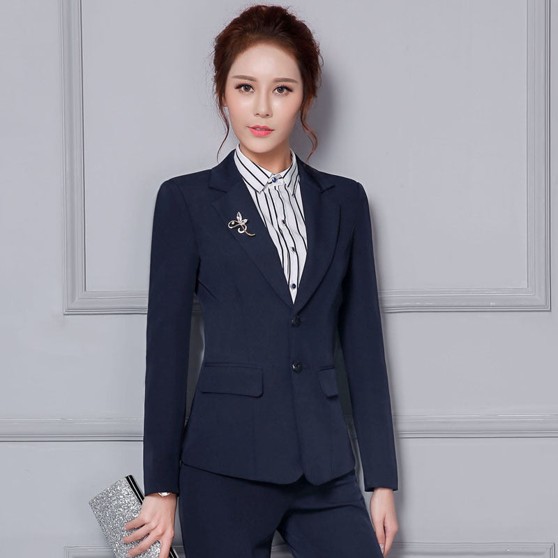 Autumn and Winter Professional Three-piece Pants Suit