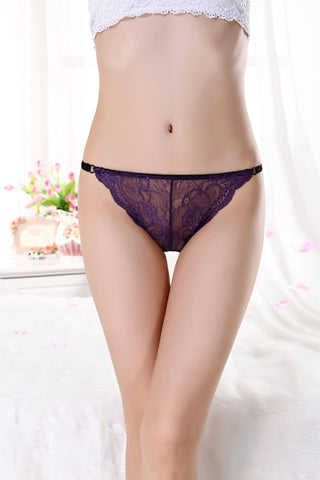 Pure Cotton Bottom File Without Trace Low Waist Briefs