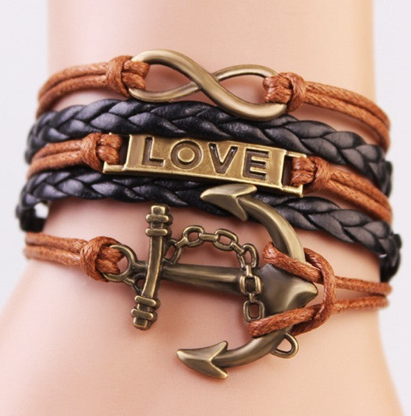 Multi-layer Braided Love Bracelet