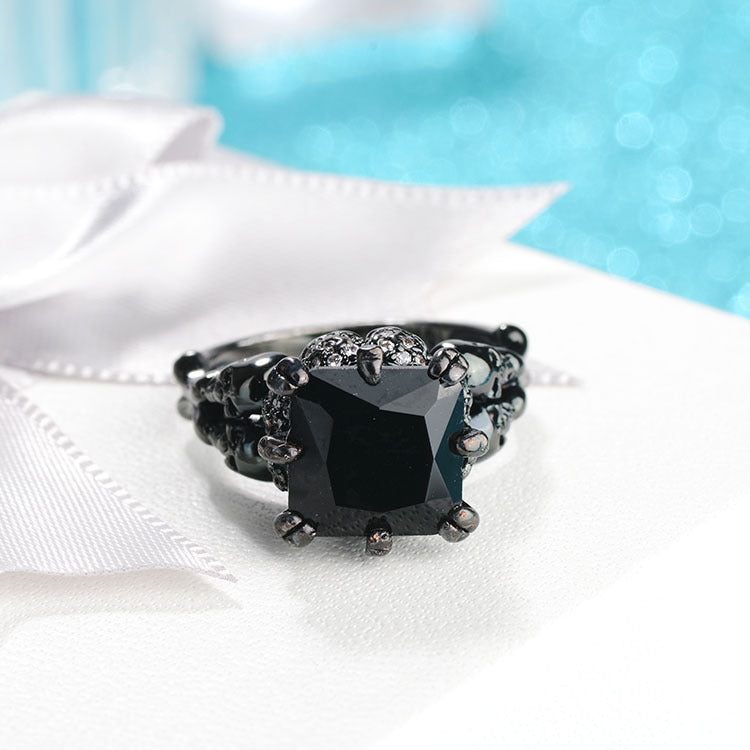 Black Gold Zircon Ring