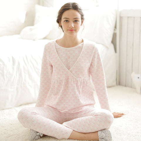 Long Sleeve Suit Cloud Breastfeeding Suit