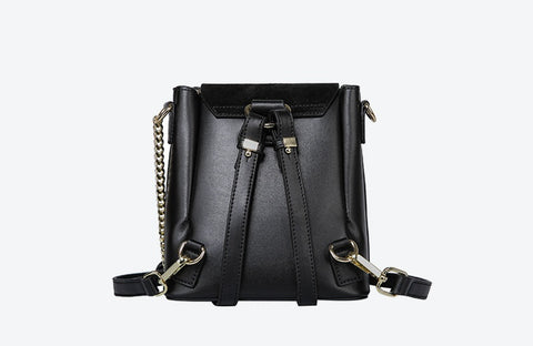 Leather Handbags Slung Ring Backpack