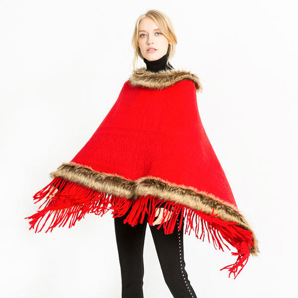 Autumn and Winter Shawl Neckline Artificial Scarf