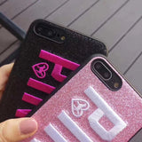 Embroidered Victoria's Secret Pink Mobile Phone Case