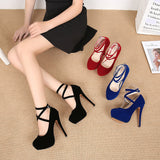 Cross Straps Super High Heels Shoes