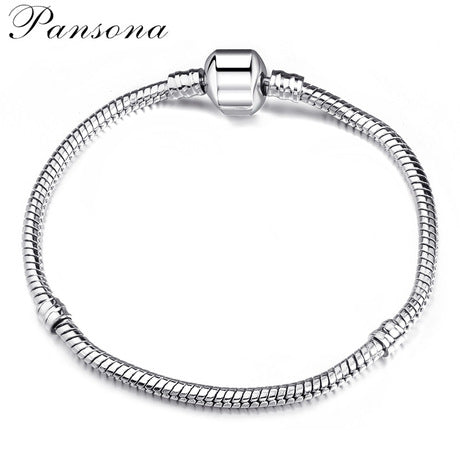 Simple and Basic Silver Plating Stainless Bracelet Bangles for Women