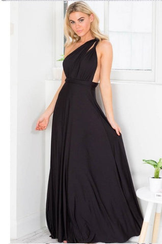 Multi-lineage Bandage Long Skirt Dress for Women