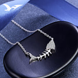 Silver 925 Fish Bone Necklace
