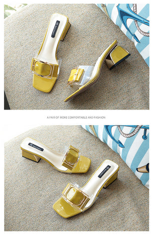 Summer Buckle Slippers