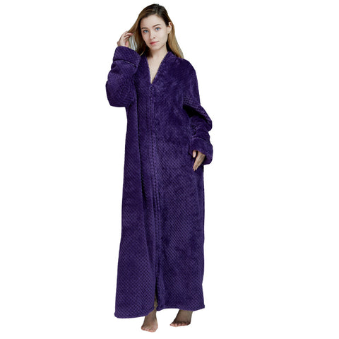 Women's Thick Flannel Bathrobe