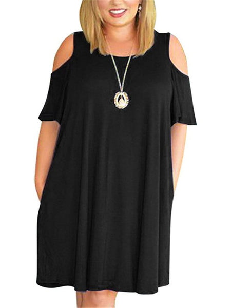 Loose Big Size Off Shoulder Womens Dress