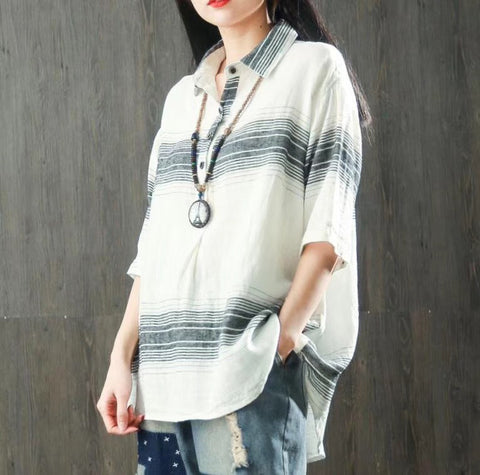 Women's Loose Striped Shirt