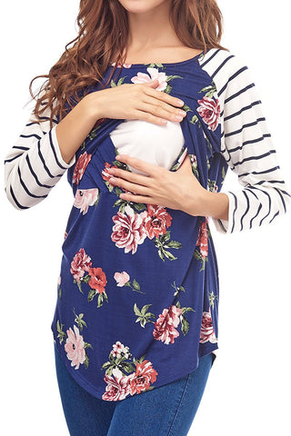 Multi-functional Pregnant Women Striped Stitching Breastfeeding